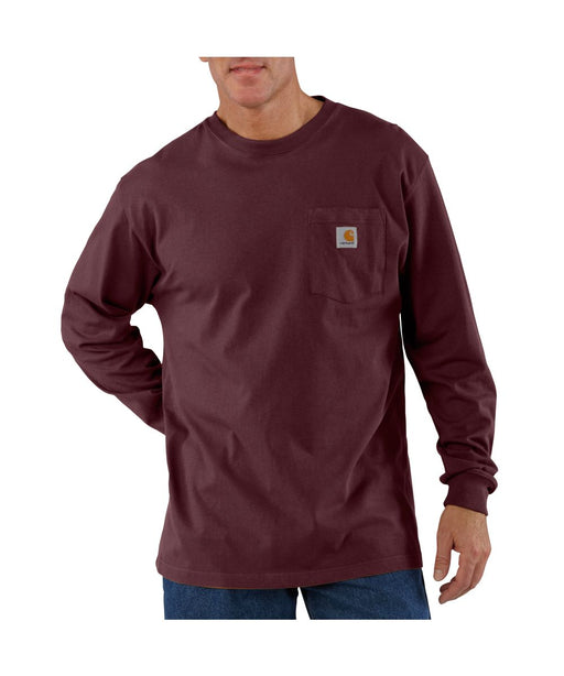 Carhartt K126 Long Sleeve Workwear T-shirt in Port at Dave's New York