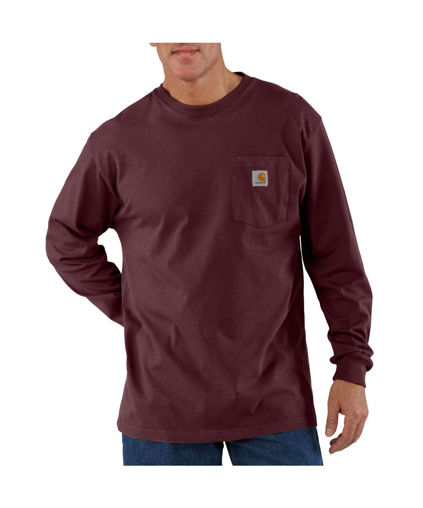 Carhartt K126 Long Sleeve Workwear T-Shirt - Port