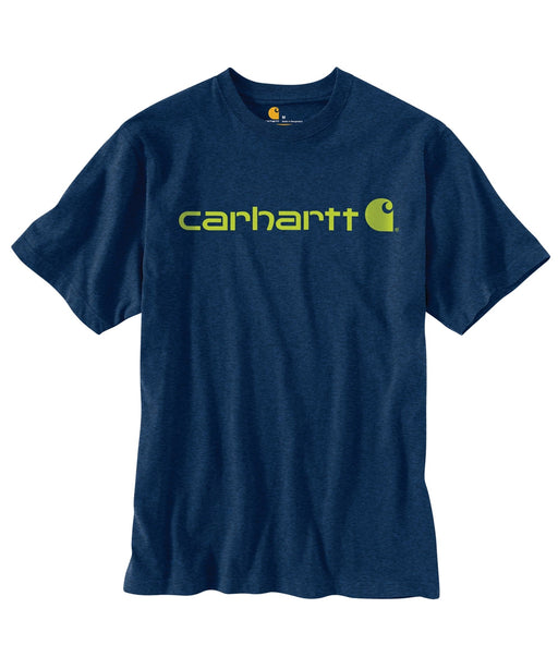 Carhartt K195 Signature Logo T-Shirt - Dark Cobalt Blue Heather