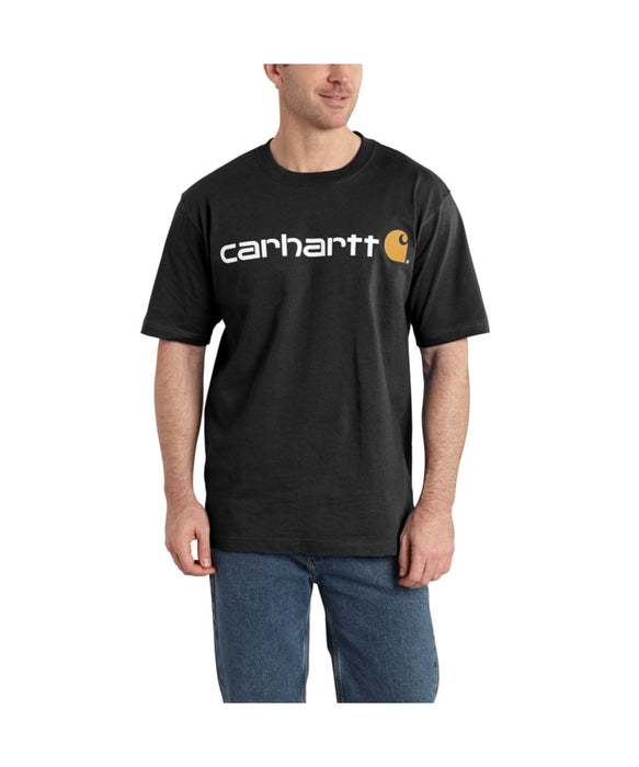 Carhartt K195 Signature Logo T-Shirt in Black at Dave's New York