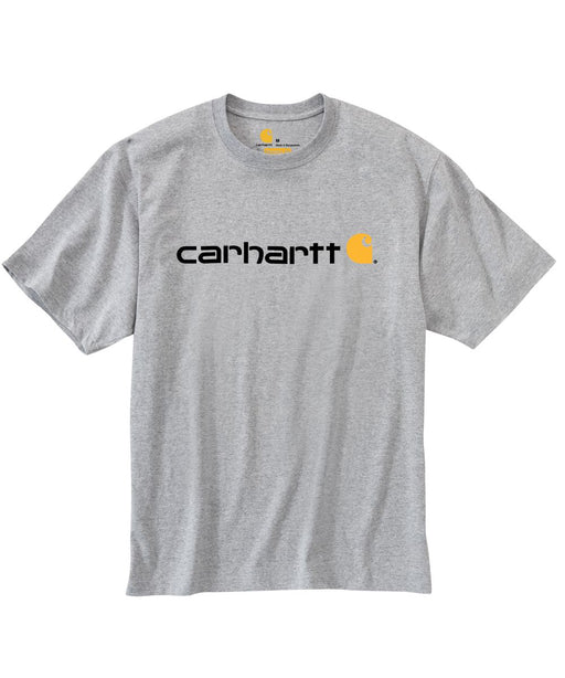 Carhartt K195 Signature Logo T-Shirt in Heather Gray at Dave's New York