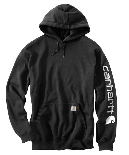 Carhartt Mid-weight Hooded Logo Sweatshirt in Black at Dave's New York