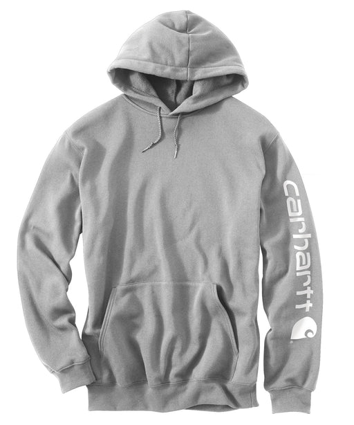 Carhartt Mid-Weight Hooded Logo Sweatshirt - Heather Grey