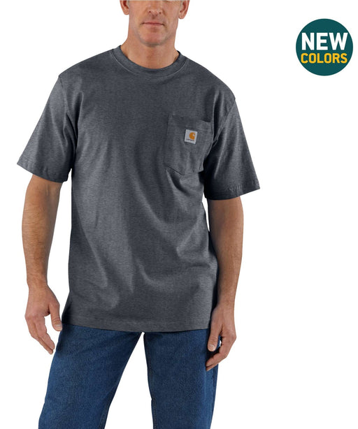 Carhartt K87 Workwear Pocket T-Shirt - Granite Heather