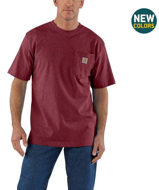 Carhartt K87 Workwear Pocket T-Shirt - Port Heather