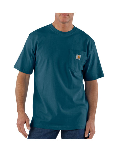Carhartt K87 Workwear Pocket T-Shirt - Storm Blue