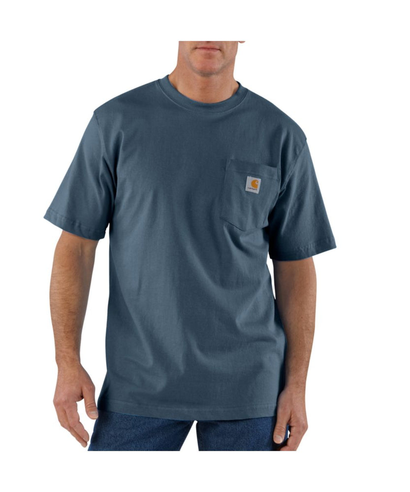 Carhartt K87 Workwear Pocket T-Shirt - Bluestone