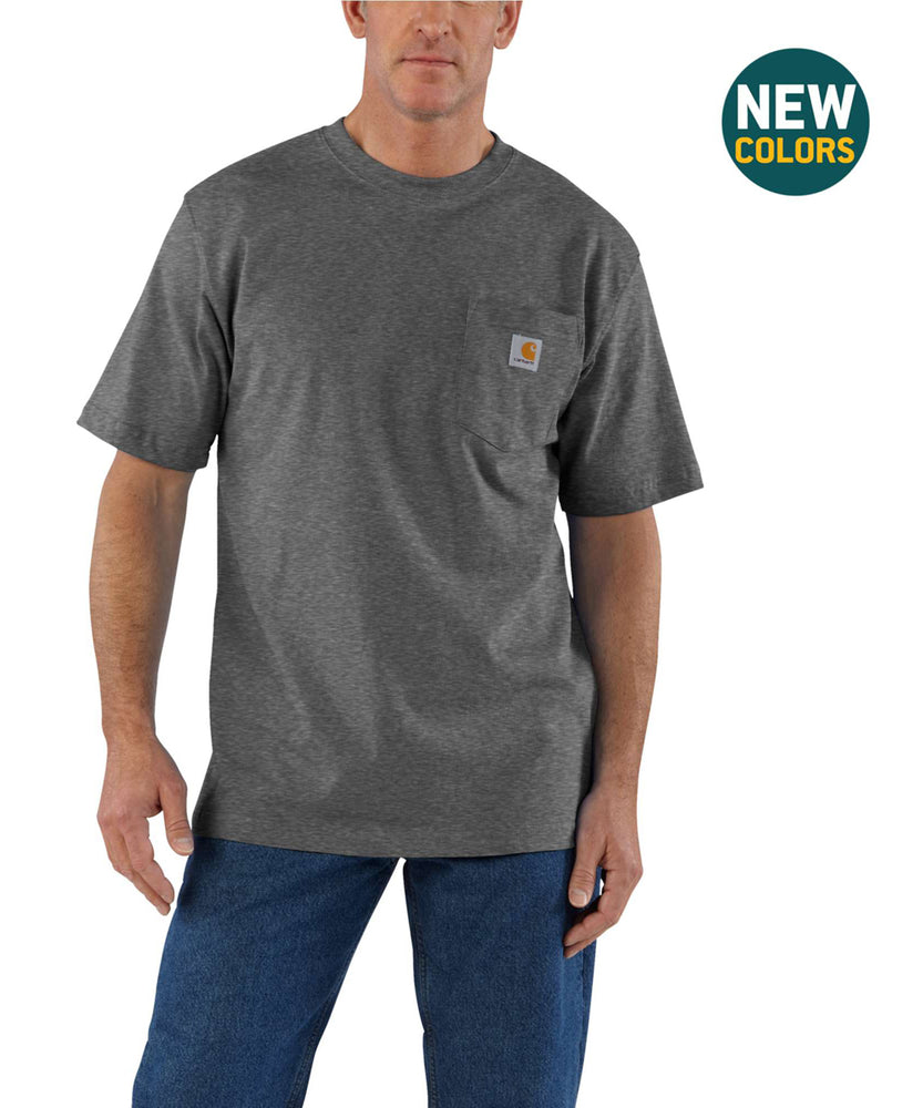 Carhartt K87 Workwear Pocket T-shirt in Carbon Heather at Dave's New York