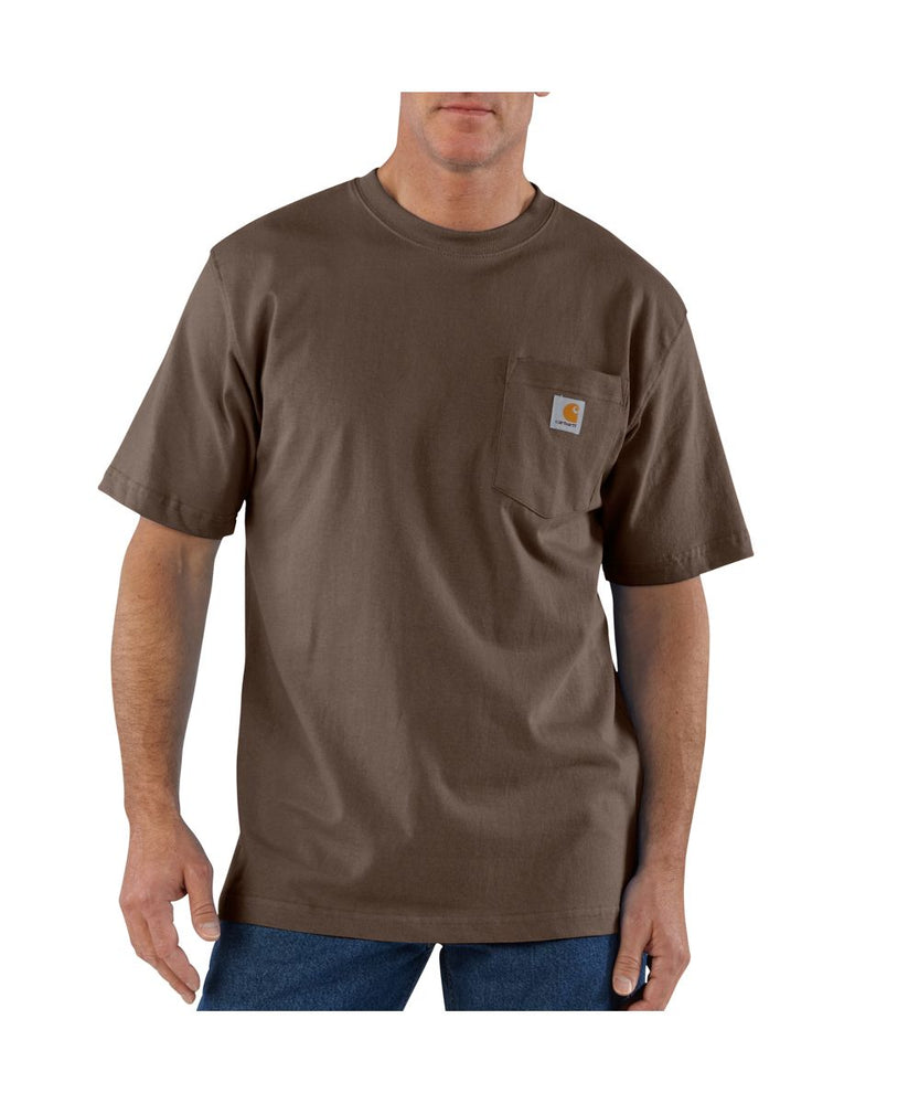 Carhartt K87 Workwear Pocket T-Shirt - Dark Brown