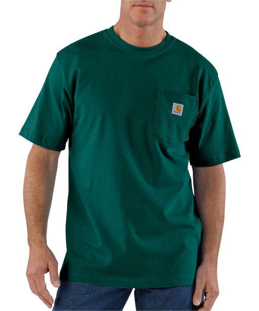 Carhartt K87 Workwear Pocket T-shirt in Hunter Green at Dave's New York