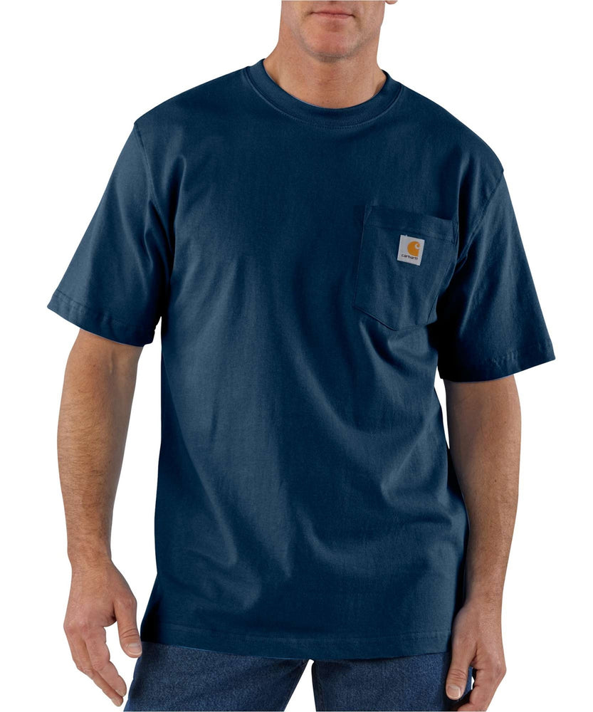 Carhartt K87 Workwear Pocket T-Shirt - Navy