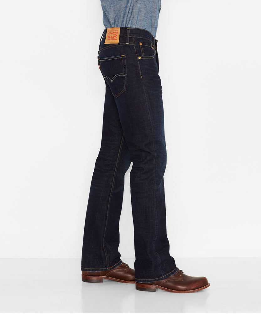 Levi's Men's 517 Slim Fit Boot Cut Jeans in Indigo Black at Dave's New York
