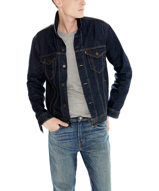 Levi's Men's Trucker Jacket in Rinse at Dave's New York