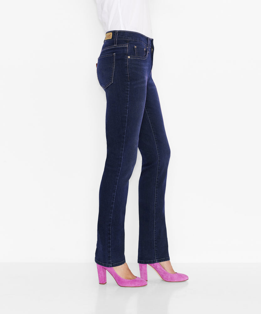 Levi's Misses 505 Mid Rise Straight Leg Jeans – Sleek Blue