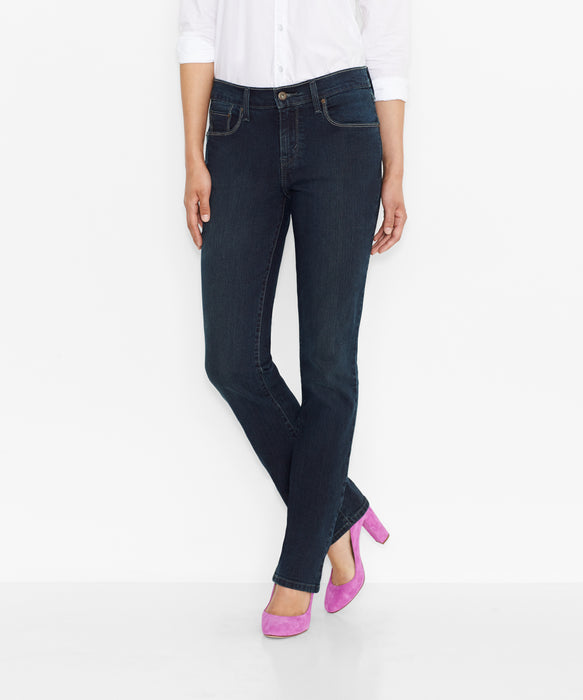 826caa12caf Levi's Misses 505 Mid Rise Straight Leg Jeans – Immersion Blue — Dave's New  York