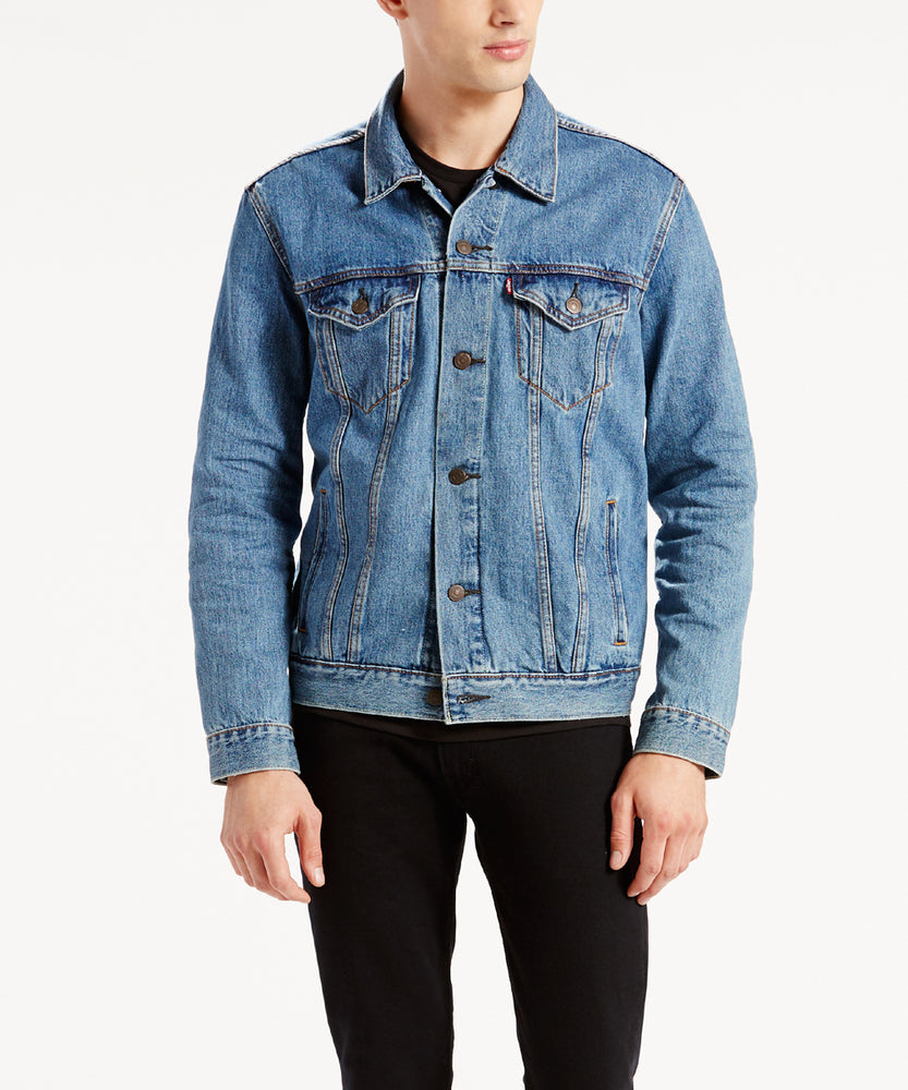 Levi Men's Trucker Jacket - Medium Stonewash