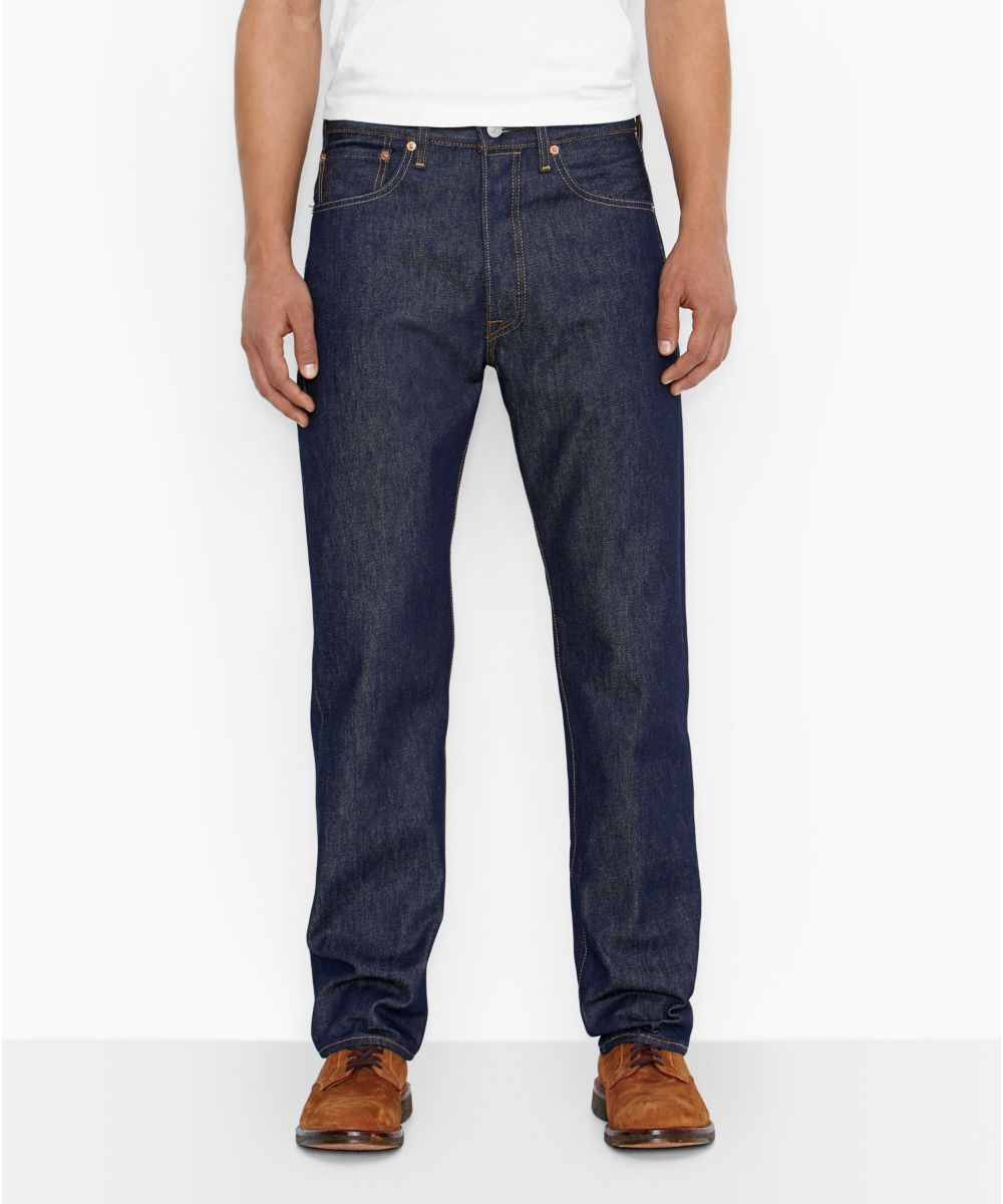 9eb64a57 Levi's 501 Shrink-To-Fit Jeans - Rigid Blue Denim — Dave's New York