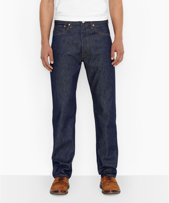 2d3e50bb0ce Levi's 501 Shrink-To-Fit Jeans - Rigid Blue Denim — Dave's New York