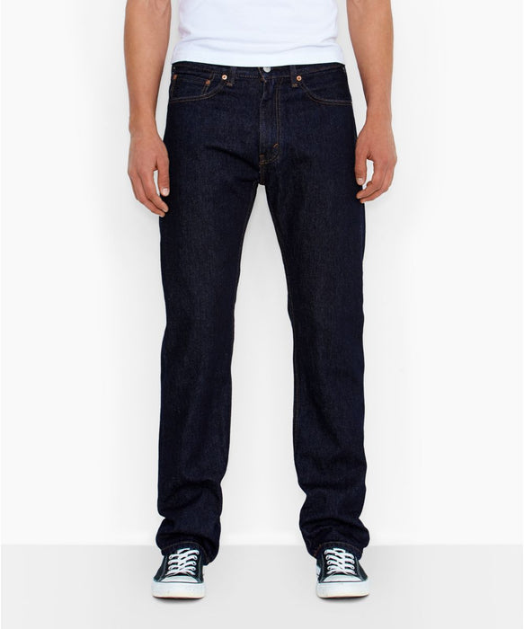 Levi's Men's 505 Regular Fit Jeans in Rinsed at Dave's New York