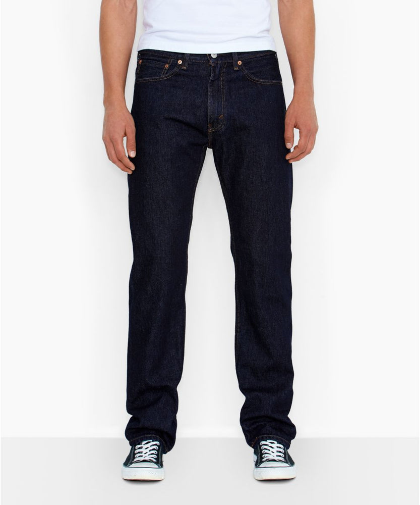 Levi's Men's 505 Regular Fit Jeans - Rinsed
