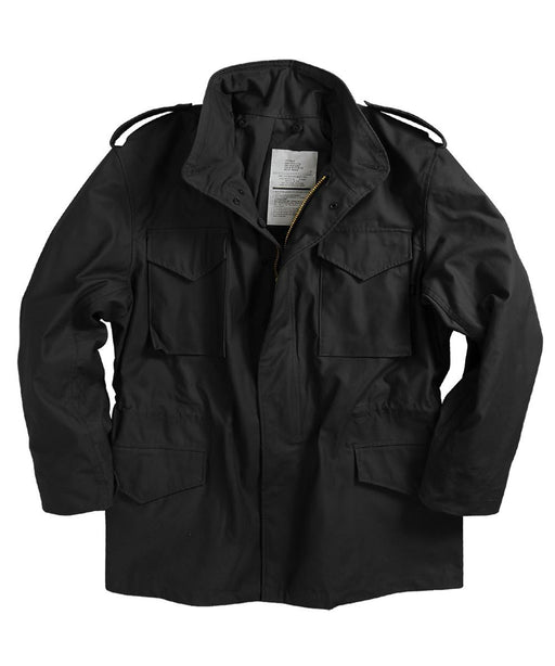 Alpha Industries M-65 Field Coat in Black at Dave's New York