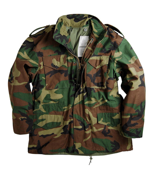 Alpha Industries M-65 Field Coat in Woodland Camouflage