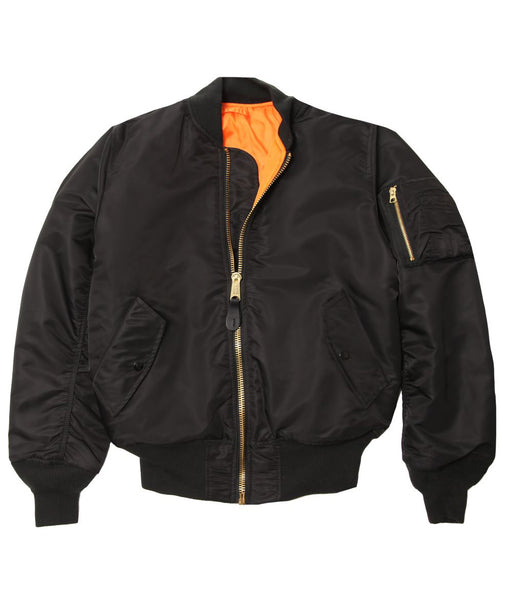 Alpha Industries Women's MA-1W Flight Jacket in Black at Dave's New York