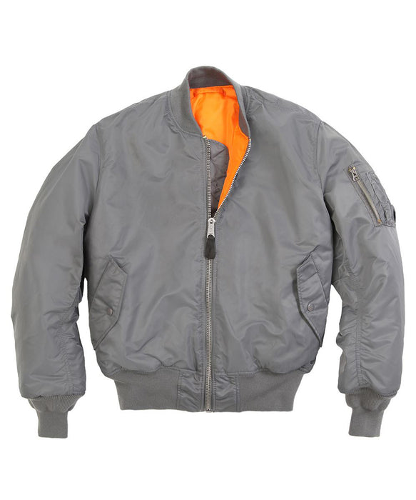 Alpha Industries MA-1 Flight Jacket in Gunmetal Grey at Dave's New York