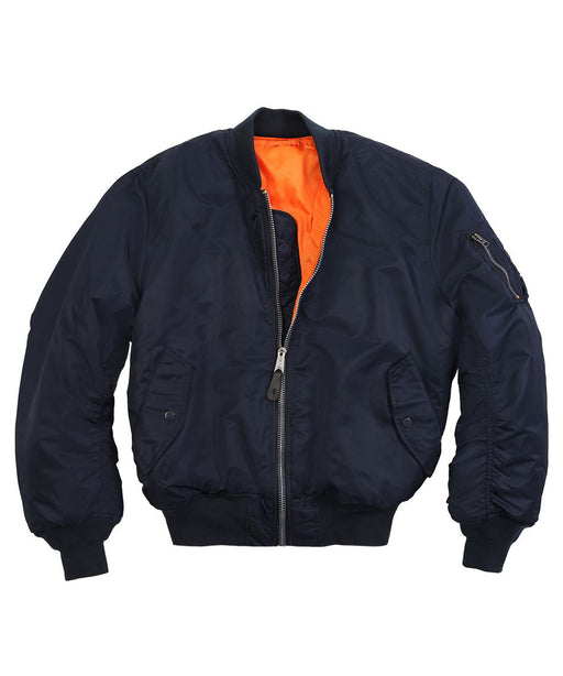 Alpha Industries MA-1 Flight Jacket in Replica Blue at Dave's New York