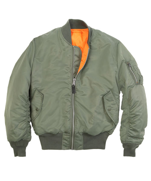 Alpha Industries Women's MA-1W Flight Jacket in Sage Green at Dave's New York