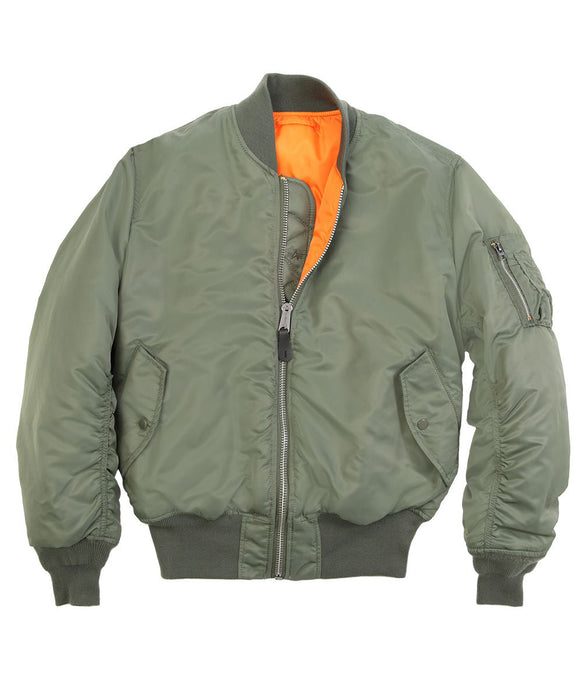 Alpha Industries MA-1 Flight Jacket in Sage Green — Dave s New York 8101a6b10d3