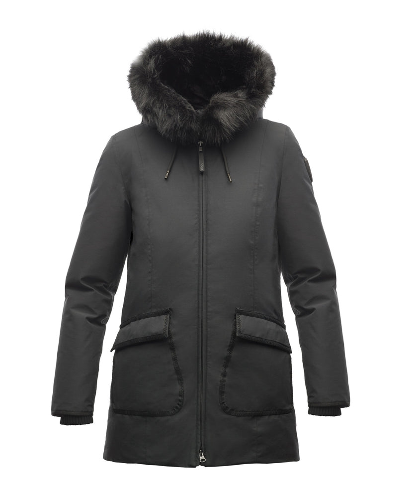 Nobis Women's Mindy Down Parka in Black at Dave's New York