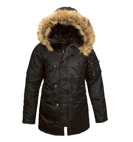 Alpha Industries Women's N-3B Parka in Black at Dave's New York