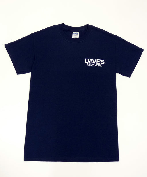 Dave's New York Work Logo Short Sleeve T-Shirt - Navy