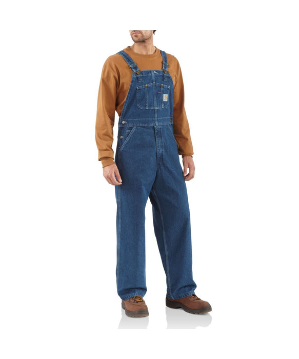 Carhartt R07 Washed-denim Bib Overalls in Darkstone at Dave's New York