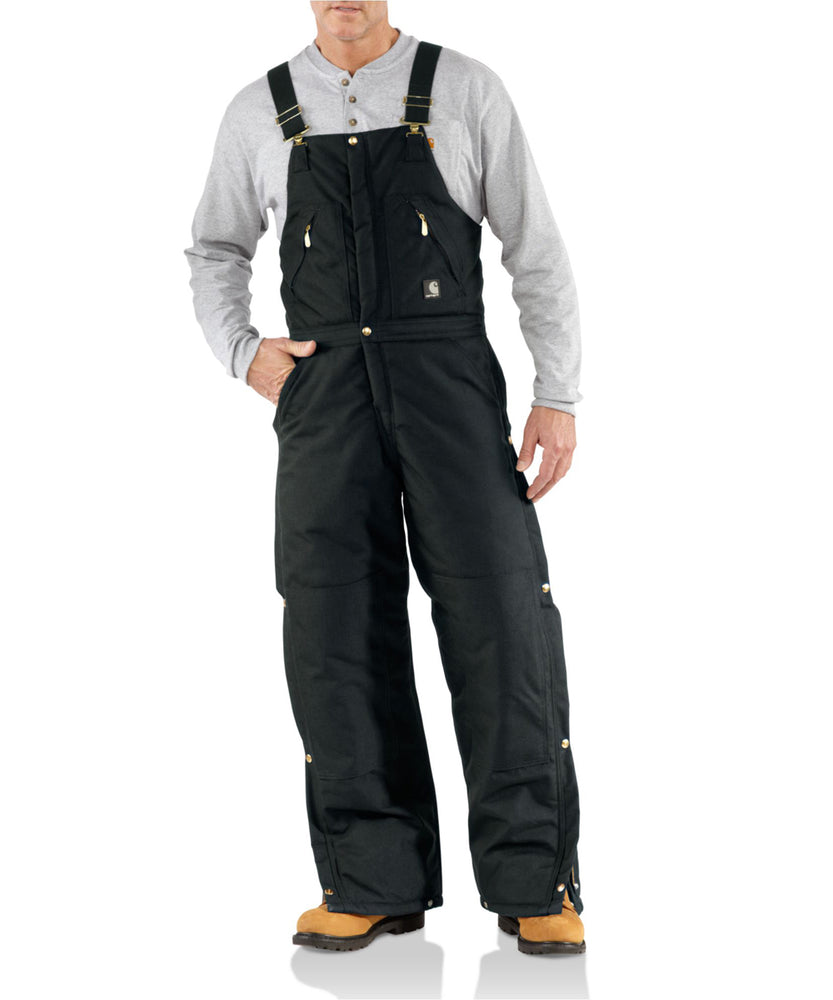 Carhartt Men's R33 Men's Extremes Yukon Zip-To-Waist Bib Overalls in Black at Dave's New York