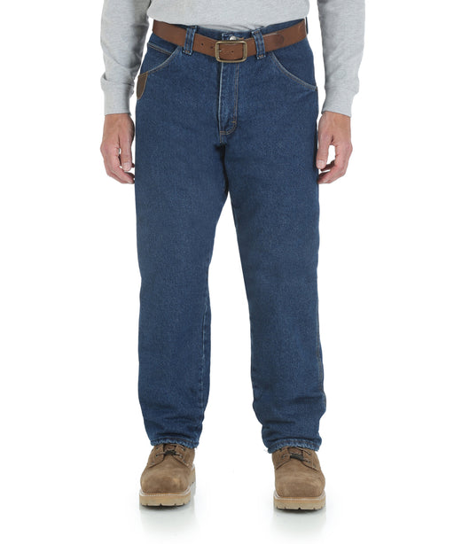 Wrangler Riggs Quilted Lined Five Pocket Jeans - Antique Indigo at Dave's New York
