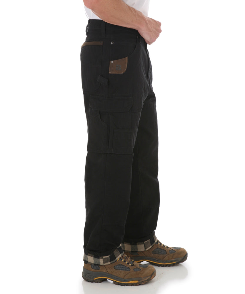 Wrangler Riggs Flannel-Lined Rip-Stop Ranger Work Pants - Black at Dave's New York