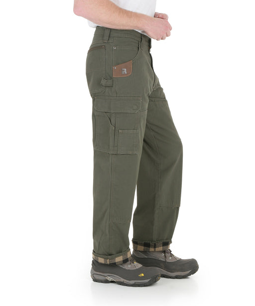 Wrangler Riggs Flannel-Lined Rip-Stop Ranger Work Pants - Loden at Dave's New York