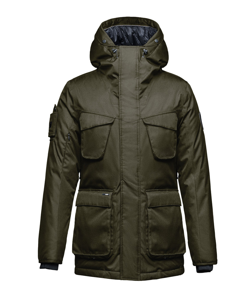 Nobis Men's Rosco Parka in Army Green at Dave's New York