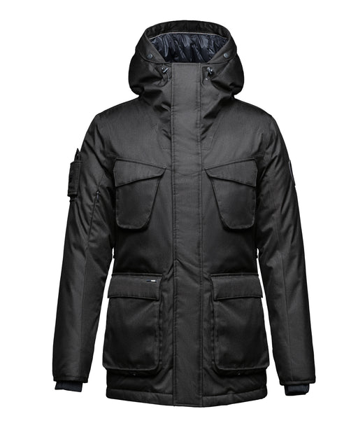 Nobis Rosco Men's Mid-weight Long Parka- Black