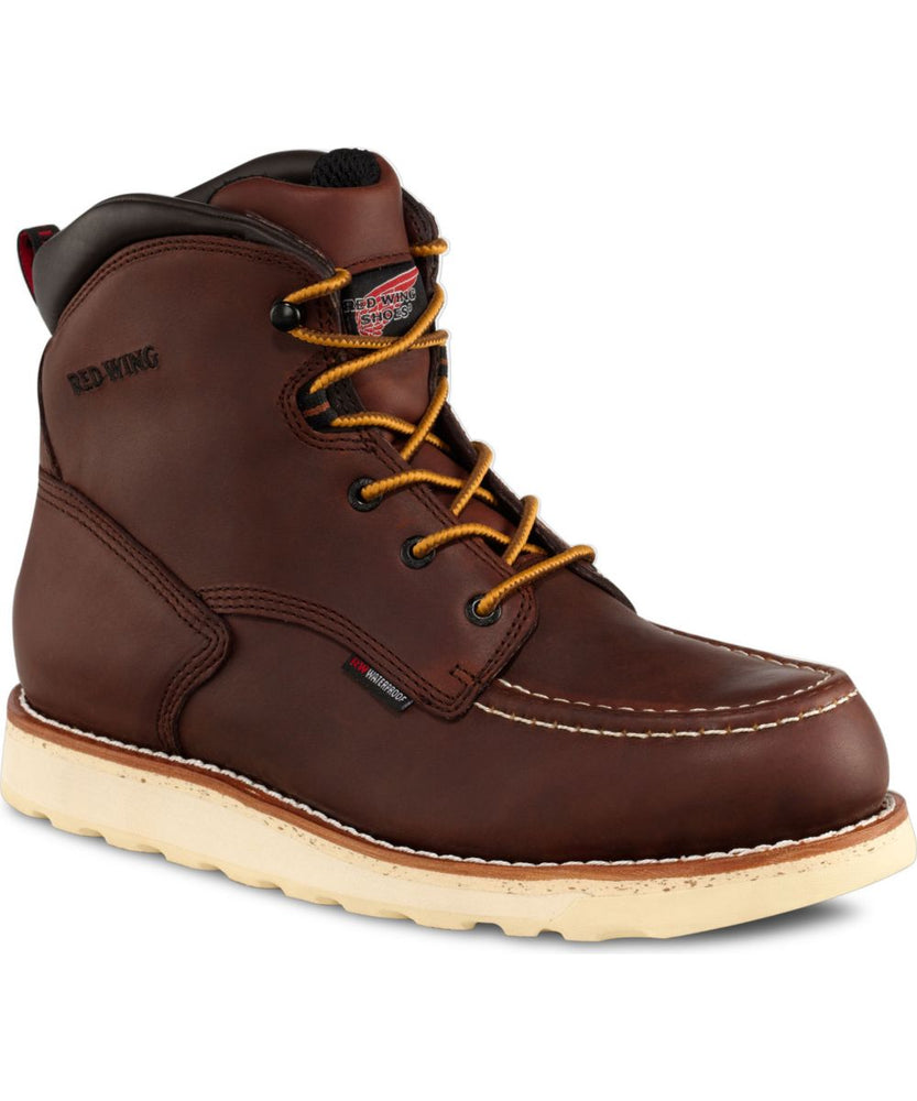 Red Wing Shoes 6-Inch Moc Toe Waterproof Work Boots (405) in Red Oak at Dave's New York
