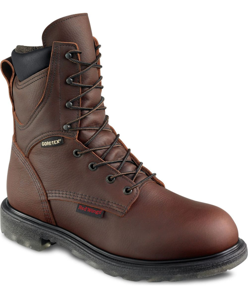 Red Wing Shoes Men's 8-inch Waterproof, Insulated Boots (1412) in Nutmeg at Dave's New York