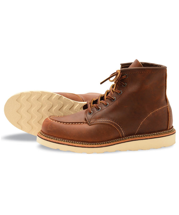 Red Wing 6-inch Classic Moc Toe Heritage Boots – 1907 in Copper Rough & Tough at Dave's New York