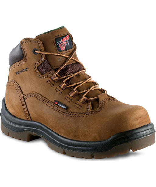Red Wing Shoes Women's 5-inch Waterproof Composite Toe Work Boots in Hazelnut at Dave's New York