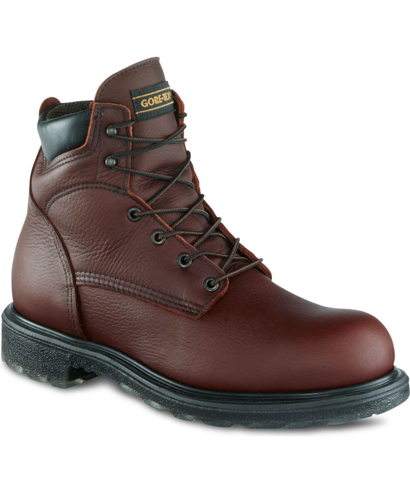 Red Wing Shoes Men's 6-inch Waterproof Boots (604) in Nutmeg at Dave's New York