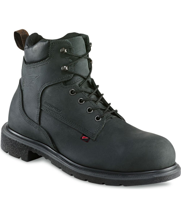 Red Wing Men's 6-inch, Steel Toe, Waterproof Work Boot (4217) - Black
