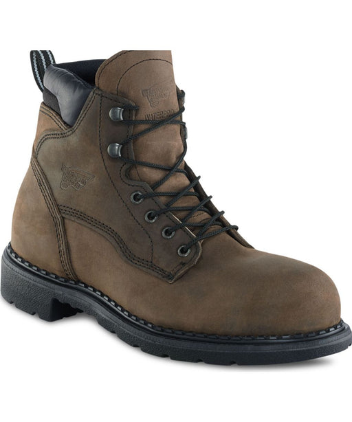 Red Wing Men's 6-Inch Steel Toe, Insulated, Waterproof Work Boot (2206) - Dark Brown