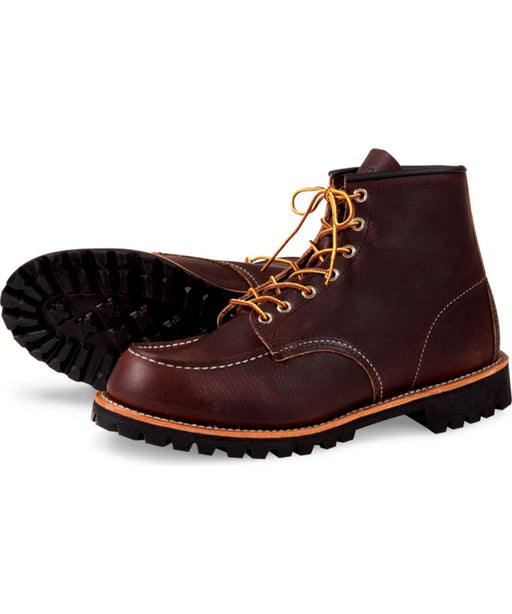 Red Wing Heritage Roughneck Moc Toe Boots (Model 8146) in Briar Oil Slick at Dave's New York