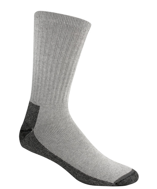 Wigwam At-Work Cotton Crew Socks (3 Pack) in Grey at Dave's New York